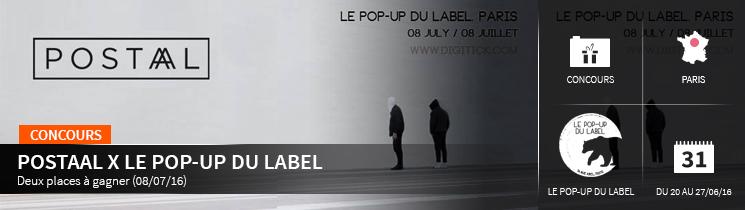 Postaal Le pop-up du label